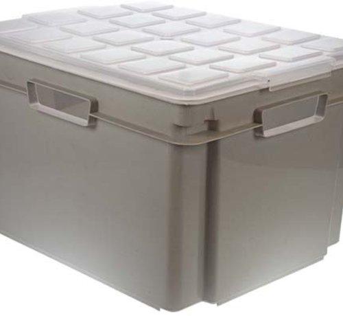 Cosy & Trendy Hobbybox Met Deksel Metaalgrijs 43x35x26stapelbaar