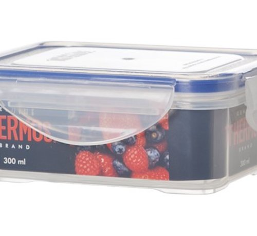 Thermos Airtight Container Rectangle 300 Ml (set of 12)