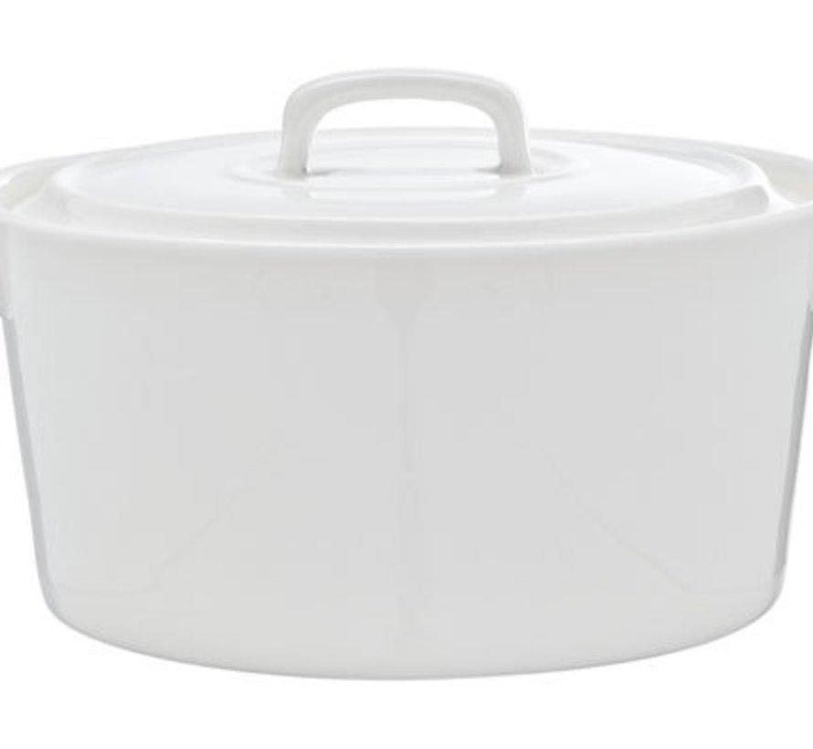 Clio White Potje Met Deksel 43cl D13xh6cm