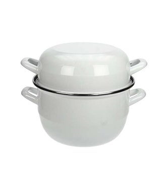 Cosy & Trendy For Professionals Mussel Casserole 2kg - D20cmwhite Exterior-black Interior (set of 6)