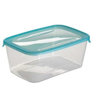 "Curver ""Fresh-And-Go"" Food Storage Container 3 Liter25.7x16.7x10.0cm Blue (set of 6)"