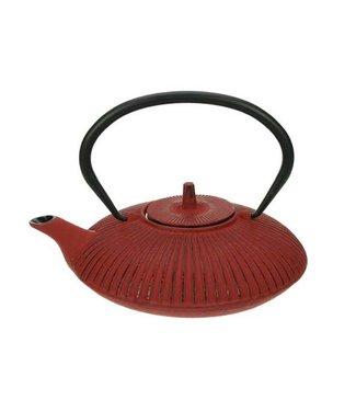 Cosy & Trendy Teapot Cast Iron 0,8l Umbrella Redwith Filter Tsp65