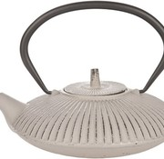 Cosy & Trendy Teapot Cast Iron 0,8l Umbrealla Br/greywith Filter Tsp65