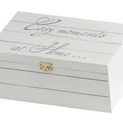 Cosy & Trendy Cmh Deco-doos Wit 18.5x11.5xh7cm Hout (set van 4)