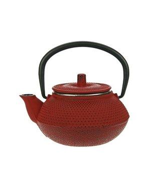 Cosy & Trendy Teekanne Gußeisen 0,3l Kobe Rot 1persmit Filter Tsp68 / 13x11xh8cm