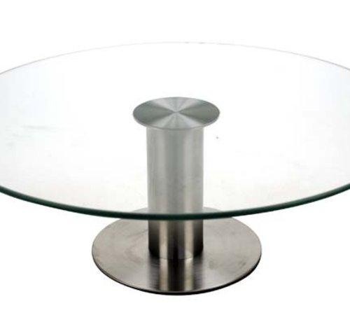 Cosy & Trendy Taartschotel Op Voet D30xh10cm Glas En Inox