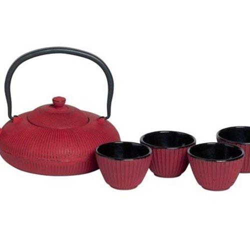 Cosy & Trendy Set Teekanne 1,2l+4 Tassen Pumpkin Redfilter Tsp80 - Inhalt Tasse 10cl