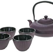 Cosy & Trendy Set Teapot 1,2l+ 4 Cups Pumpkin Purplefilter Tsp80 - Content Cup 10cl