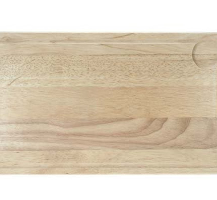 Snijplank Rubberwood Rechthoek 44x26x1.8cm