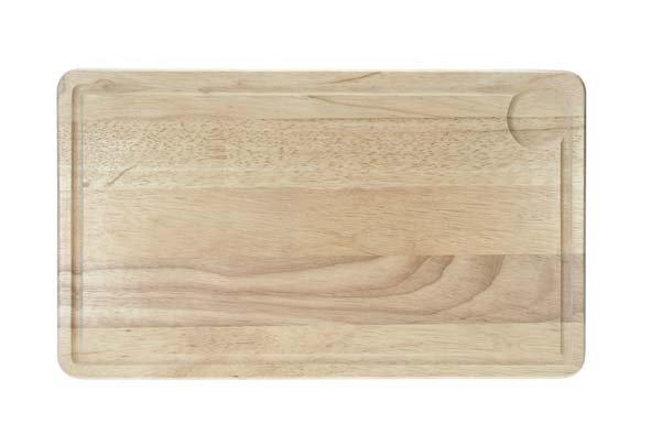 CT Snijplank Rubberwood Rechthoek 44x26x1.8cm