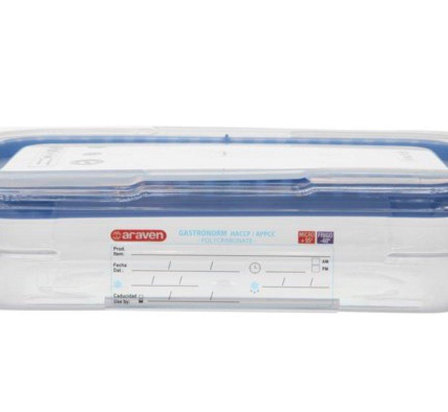 Foodbox M.airtight Deksel Gn1-6 Transparant 1,1l 65mm