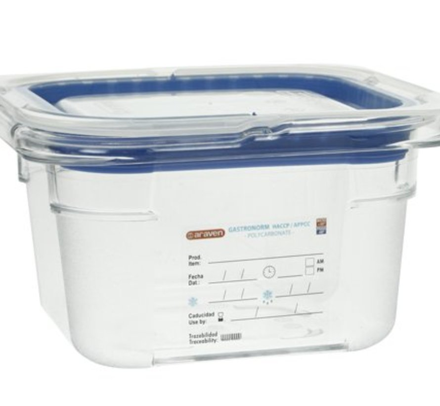 Foodbox M.airtight Deksel Gn1-6 Transparant 1,5l 100mm
