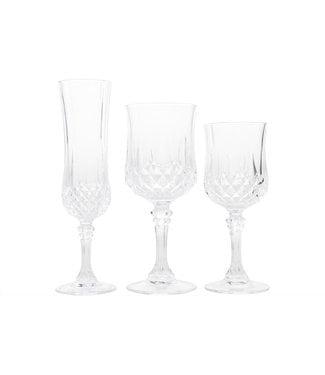 Cristal D'arques Longchamp - Glass set - 6x White Wine 6x Red Wine 6x Champagne - (set of 18)