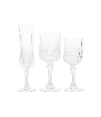 Cristal D'arques Longchamp - Glazenset - 6x Witte Wijn 6x Rode Wijn 6x Champagne - (set van 18).