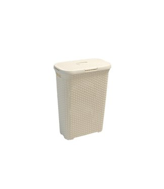 """Curver """"Natural Style"""" - Laundry basket - Vintage - White - 40 liters - (Set of 2)"""