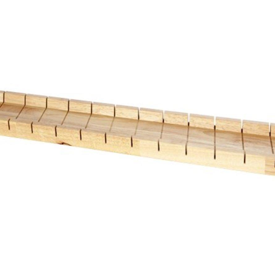 Stokbroodschaal Met Snijverdeling 580x110x30cm Rubberwood