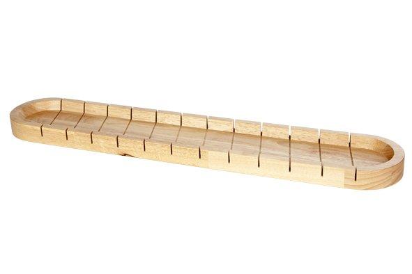 CT Stokbroodschaal Met Snijverdeling 580x110x30cm Rubberwood
