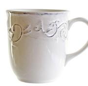 Cosy & Trendy Feston Vine Cream Mug 35cl D9xh10cm+ Patine (set of 6)