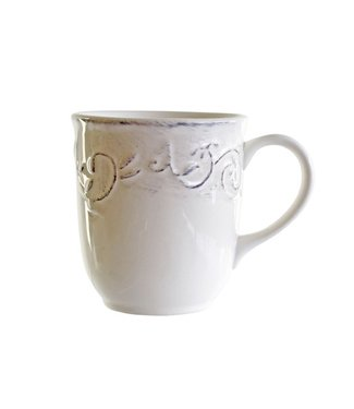 Cosy & Trendy Feston-Vine - Cup - 35cl - D9xh10cm - Cream - Ceramic - (set of 6)