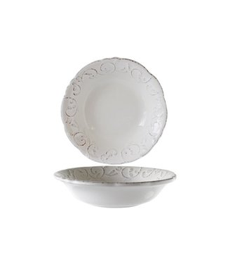 Cosy & Trendy Feston Vine Cream Deep Plates Calotte 20cm+ Patine - Ceramic - (set of 6)