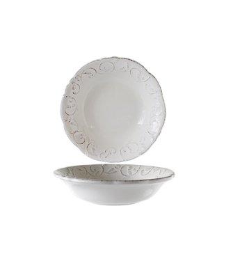 Cosy & Trendy Feston Vine Cremefarbene Suppenteller Calotte Mit Patine - Keramik - 20cm (6er Set)