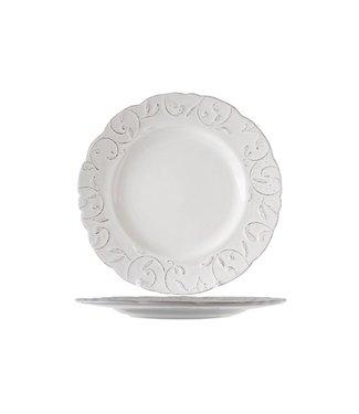 Cosy & Trendy Feston Vine Cream Dinerborden D28cm Met Patine  - Aardewerk - (Set van 6)