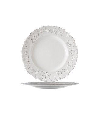 Cosy & Trendy Feston-Vine - Dinner plate - Cream - D28cm - Ceramic - (Set of 6)