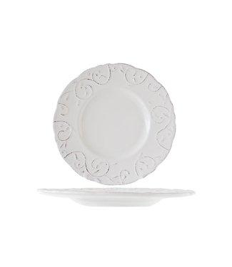 Cosy & Trendy Feston Vine Cream Dessertborden D22cm Met Patine   - Aardewerk - (Set van 6)
