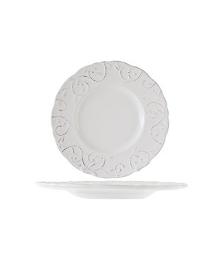 Cosy & Trendy Feston-Vine - Dessert plate - Cream - D22cm - Ceramic - (Set of 6)