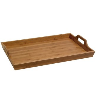 Cosy & Trendy Serving Tray With Handles 45x30,5xh6cmbamboo