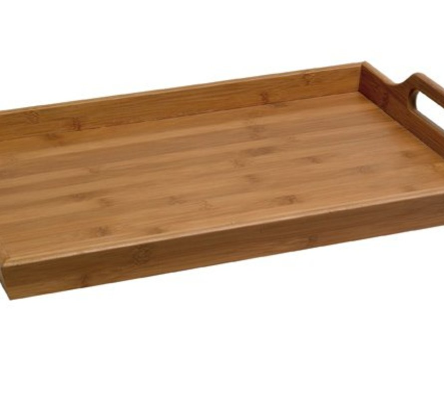 Dienblad Met Handvaten 45x30,5xh6cm Bamboe