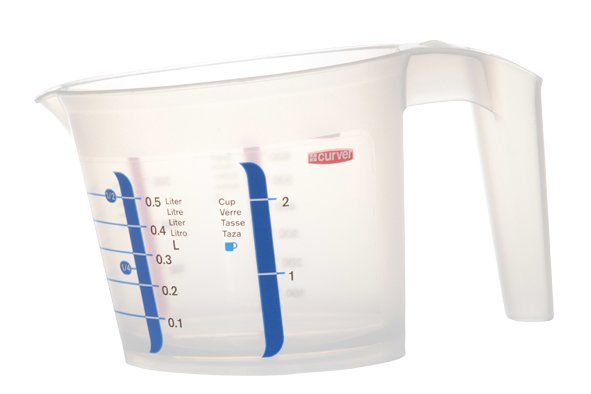Curver Chef@home Measuring Bowl 0,5l Transp Pp15,1x17,9x20,6 (set of 10)