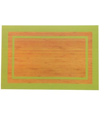 Cosy & Trendy Campo-Green - Placemat - 45x30cm - Plastic - (Set of 12)