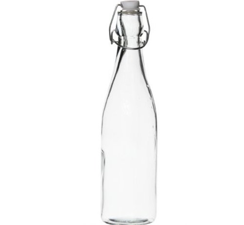 Cosy & Trendy Fles Met Stop Stop Wit 0,53l D6,5xh27cmrond Glas (set van 24)