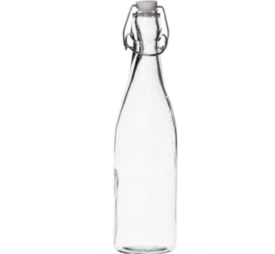 Fles Met Stop Stop Wit 0,53l D6,5xh27cmrond Glas (set van 24)