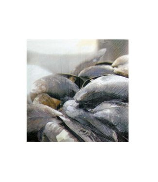 Cosy & Trendy Napkins - Mussels - 33x33cm - Paper - (10 packs of 20)