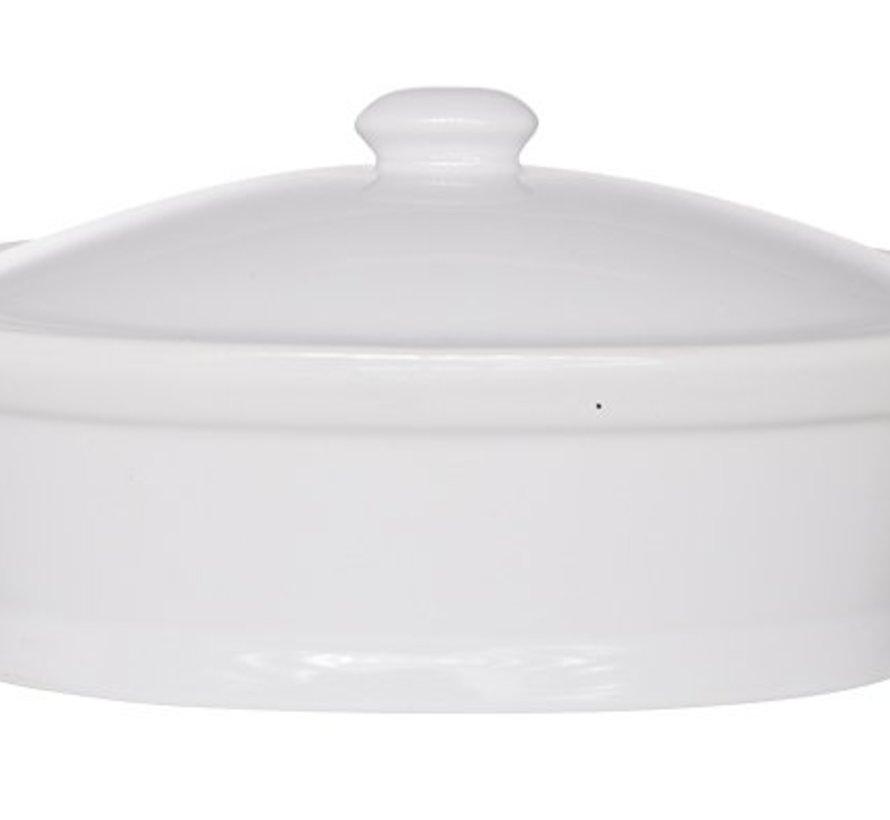 Pate Pot Met Deksel 500ml 12,5x20,2xh9cmovaal