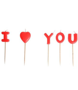 Cosy & Trendy Bougie  I Love You Set5 8cm