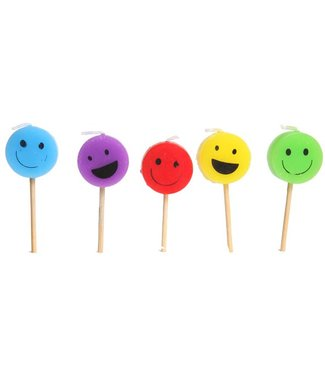 Cosy & Trendy For Kids Mini Kaars Smiley Face H7cm Set5