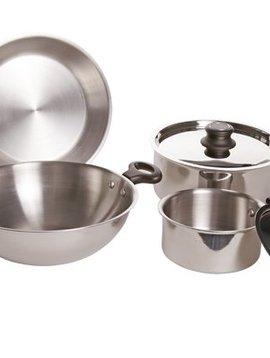 CT Cooking pot set 6-piece Wok D: 26cm - frying pan D: 24cm - cooking pot 16cm - cooking pot 22cm No Induction