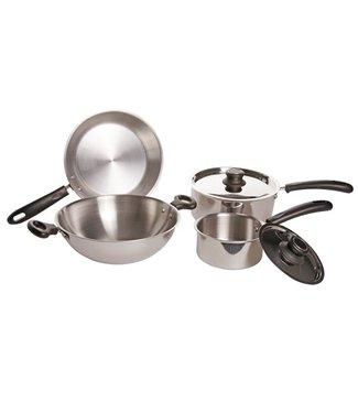 Cosy & Trendy Cooking pot set 6-piece Wok D: 26cm - frying pan D: 24cm - cooking pot 16cm - cooking pot 22cm No Induction