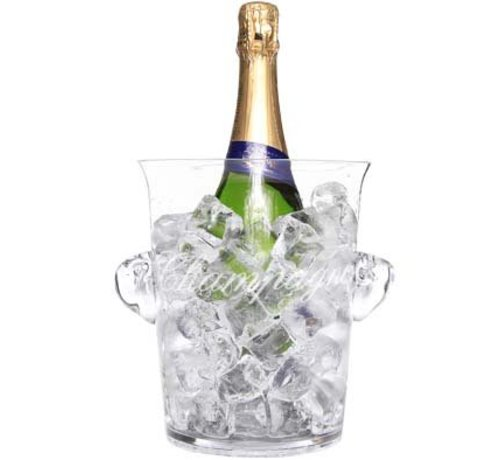Cosy & Trendy Glass Champagne Bucket D13.8xh20.7cmw. Text Champagne