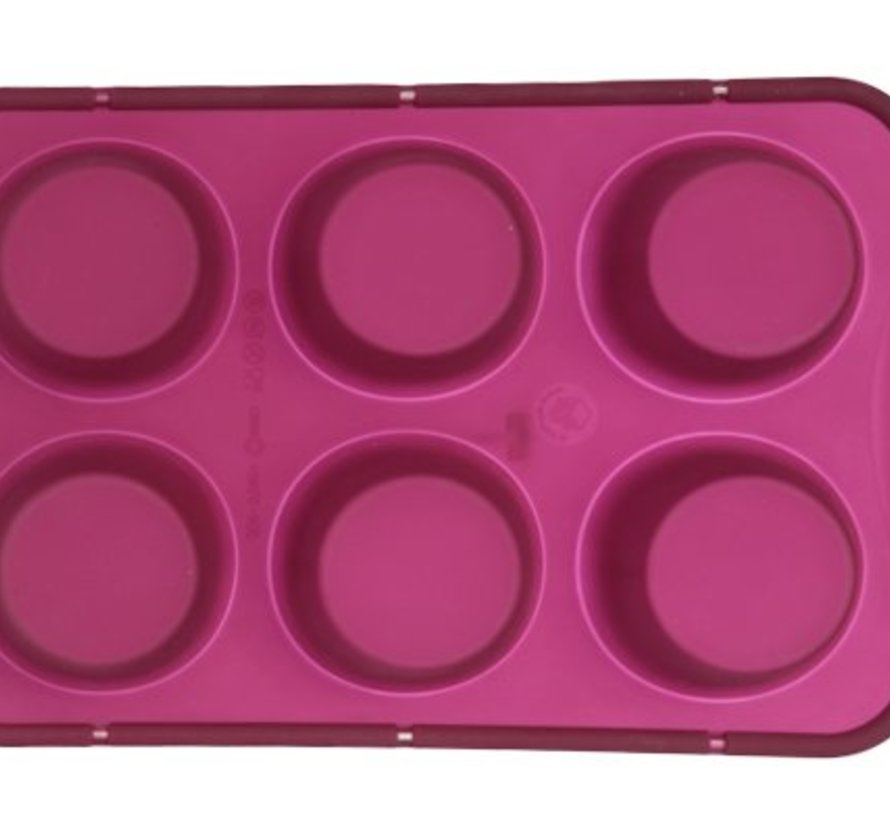 Brioflex Bakvorm 6muffins M.verstevigingsring D6,9-4cm Silicone
