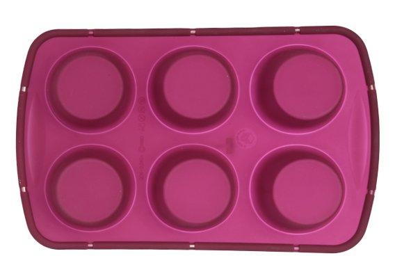 Sif Brioflex Bakvorm 6muffins M.verstevigingsring D6,9-4cm Silicone