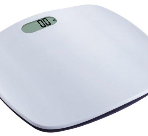 Cosy & Trendy Personenweegschaal Wit 39x30cm 180kg-100g  - Excl. 2xaaa Batt