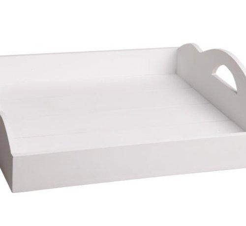 Cosy & Trendy Dienblad Large Wit 50x50xh12cm Hout