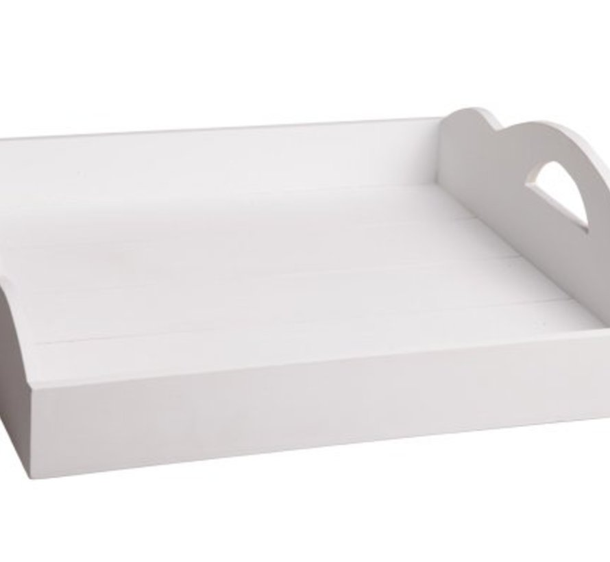 Dienblad Large Wit 50x50xh12cm Hout