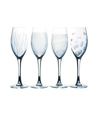 Luminarc Lounge Club - Champagneglas - Transparant - 22cl - Glas (set van 4).