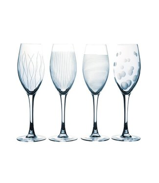 Luminarc Lounge Club - Champagnerglas - Transparent - 22cl - Glas (4er-Set)