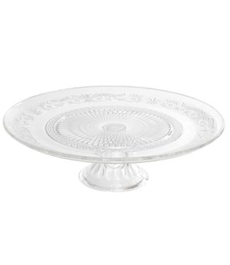 Cosy & Trendy Retro Cake Plate On Foot Glass D33xh10cm (4er Set)